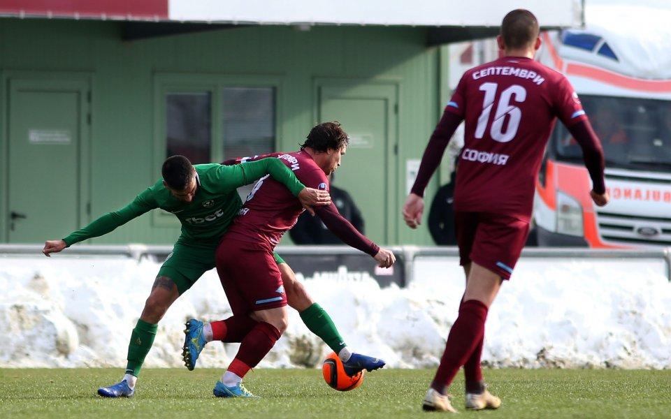 Отборът на Септември завърши 0:0 с румънския Рипенсия Тимишоара във