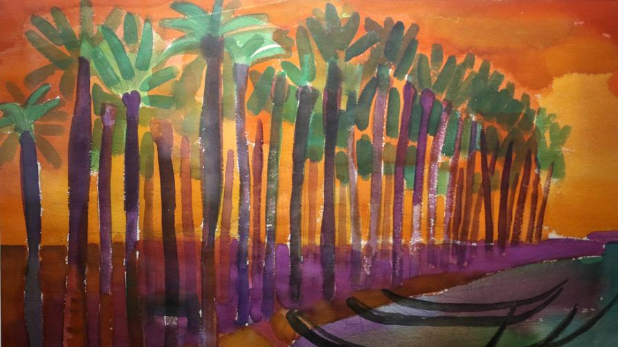 <p><strong>Александър Петров</strong> и неговите прекрасни картини</p>