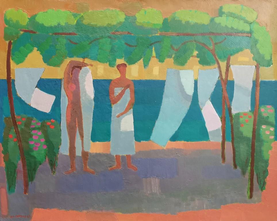 <p>Море, маслени бои/платно</p>  <p>Изложба живопис от Александър Петров, в Галерия Арте</p>