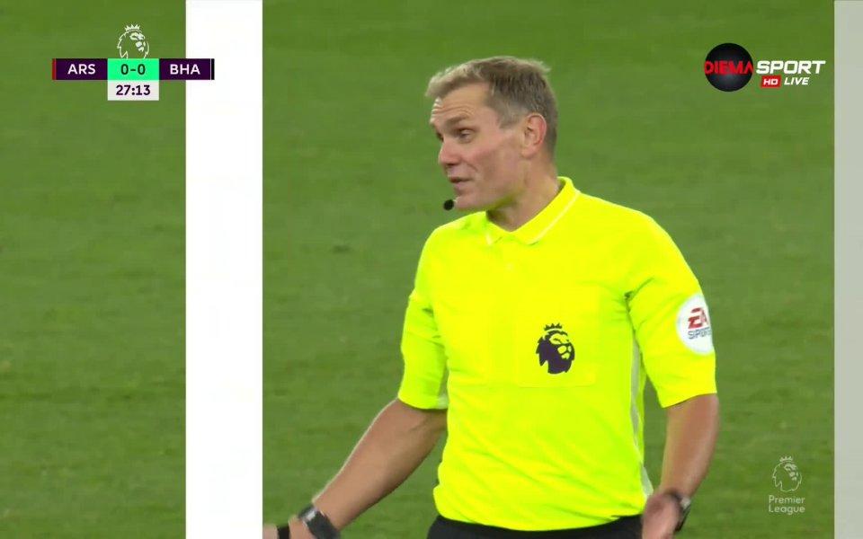 брайтън води с 1:0 при гостуването на Арсенал в последен