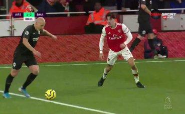 Брайтън сложи пореден пирон в ковчега на Арсенал