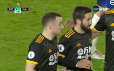 Диого Жота с втори гол във вратата на Брайтън