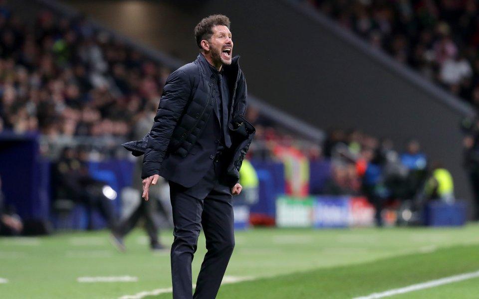 Наставникът наАтлетико Мадрид- Диего Симеонепохвали възпитаниците си след победата с