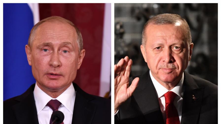 За какво говориха Путин и Ердоган по телефона