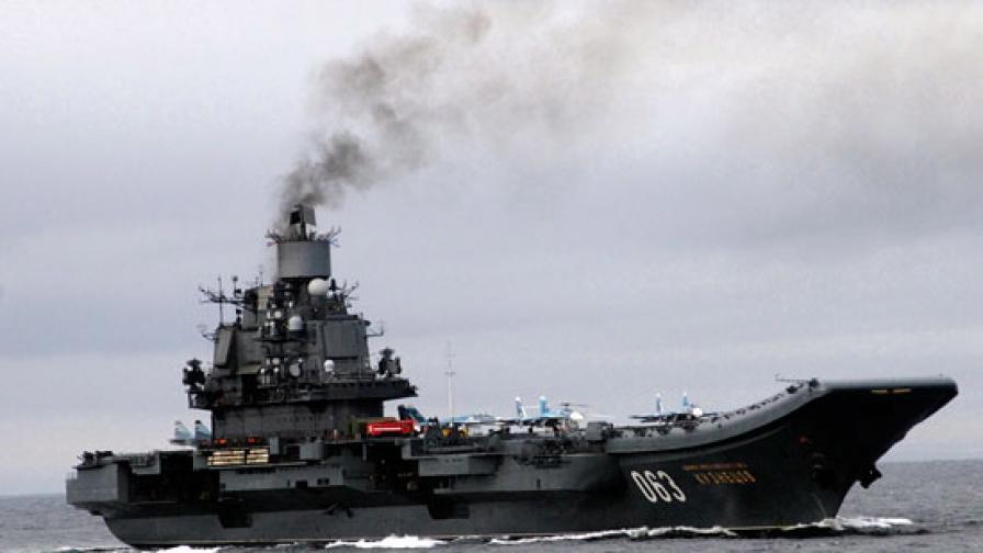 <p>Горя руския самолетоносач, изченал и ранени</p>
