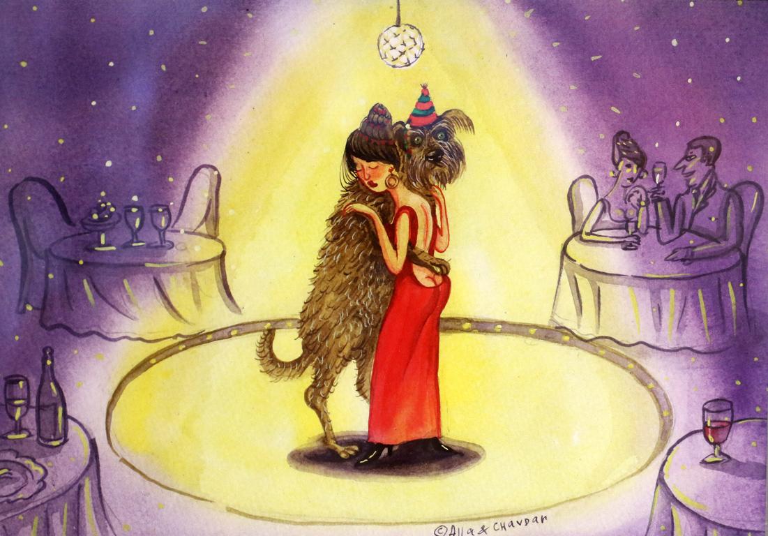 <p>Алла и Чавдар Георгиеви Танц с куче</p>