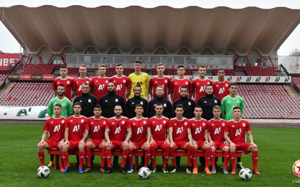 ЦСКА U19 и Лудогорец завършиха наравно 1:1 в отложен мач