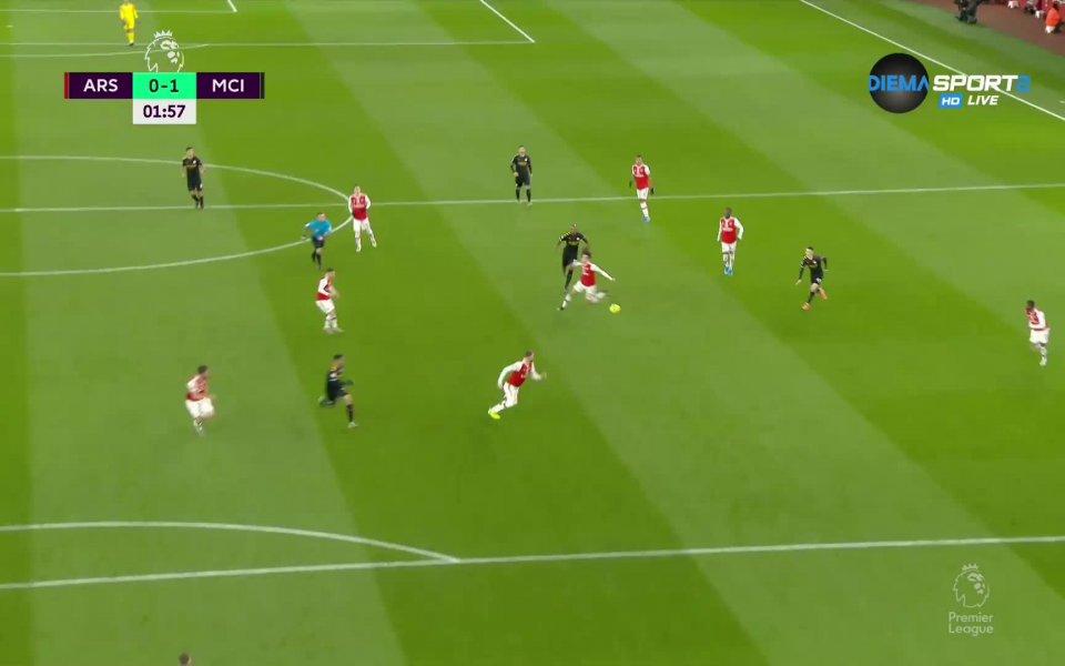 Манчестър Сити поведе още във 2-та минута при гостуването на