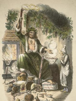 """Илюстрация към """"Коледна песен"""""""