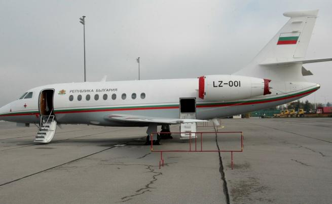 Настоящият правителствен самолет Фалкон