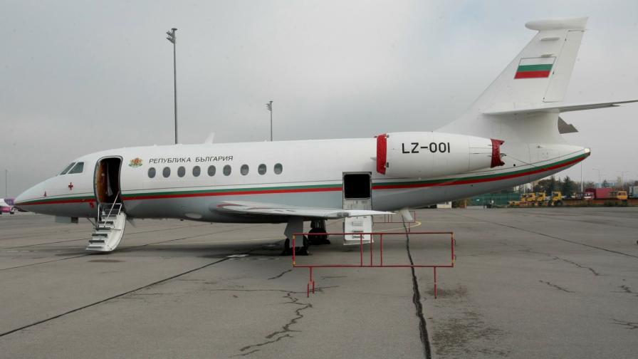 """Настоящият правителствен самолет """"Фалкон"""""""