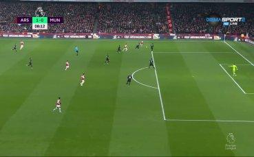 Никола Пепе заплете топката в мрежата на Ман Юнайтед