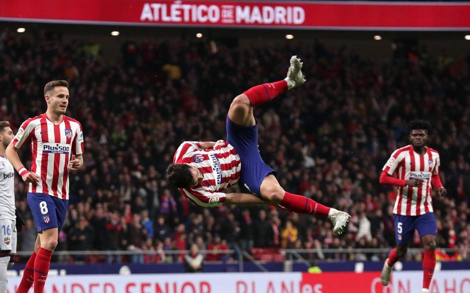 Атлетико Мадрид победи с 2:1 тима на Леванте и се