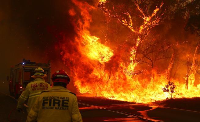 Инстаграм звезда гаси пожарите в Австралия с голи снимки