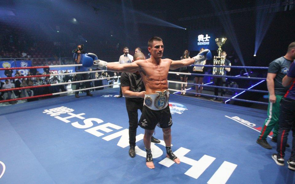 Атанас Божилов ще защитава Световния пояс по кикбокс за професионалисти на SENSHI 5