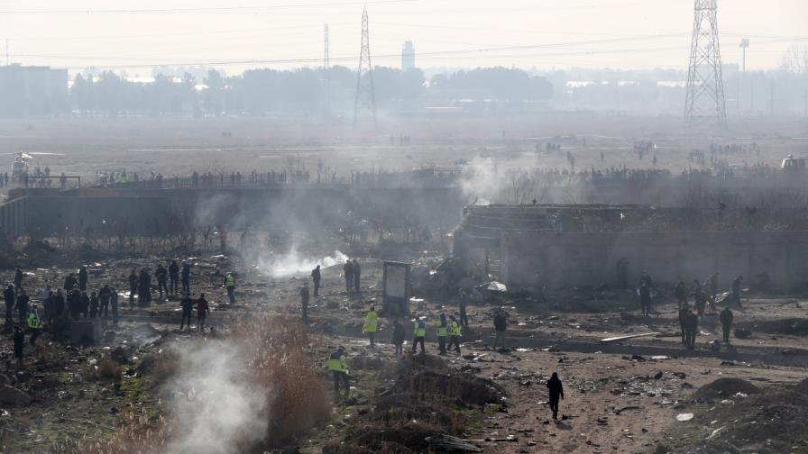 NYT: Видео показва украинския самолет, ударен от Иран
