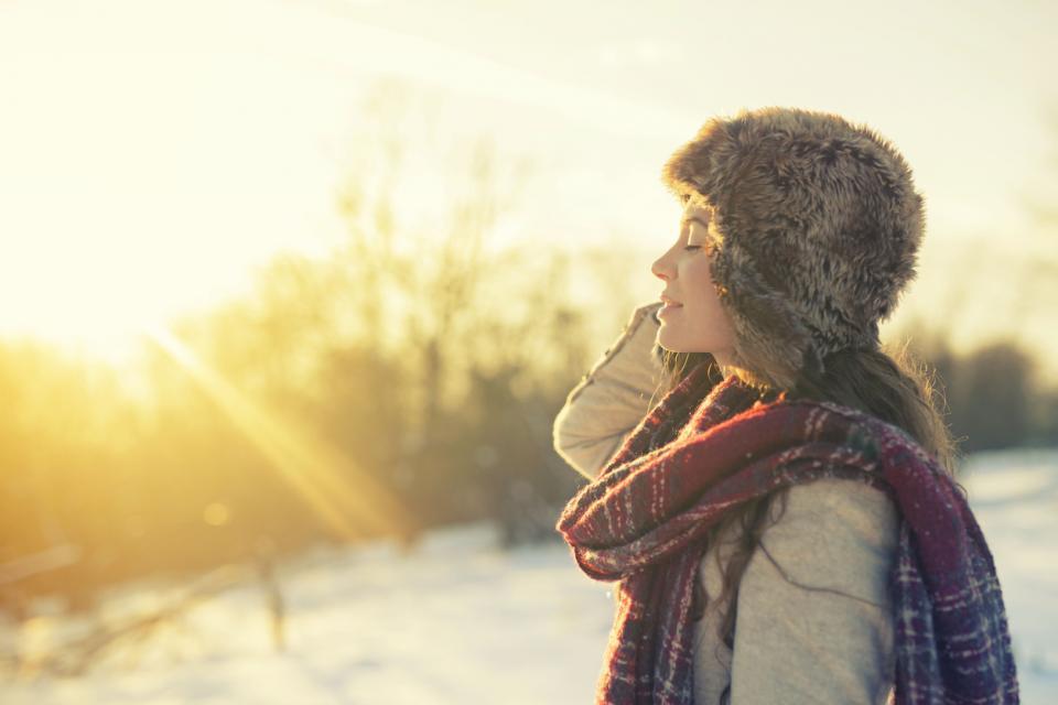 жена зима красота