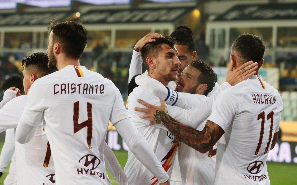 Рома надви Парма и продължава напред за Купата, Пелегрини блести