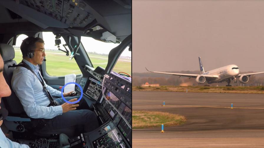 Пилотите и тестовият самолет
