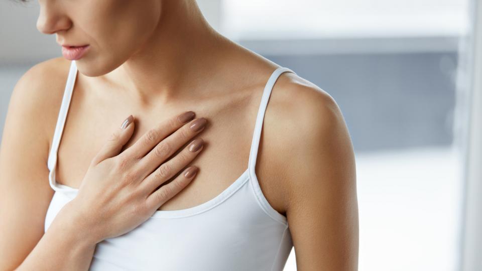 жена вода нос сърцебиене