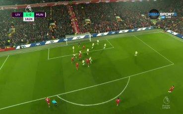 Ван Дайк опъна мрежата на Де Хеа и откри резултата в дербито