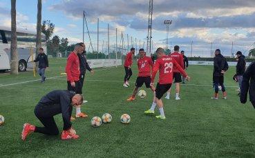 Тежки тренировки в ЦСКА преди контролата с Нюрнберг (ВИДЕО)