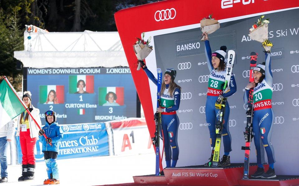 Италианката Елена Куртони спечели спускането от Световната купа по ски-алпийски