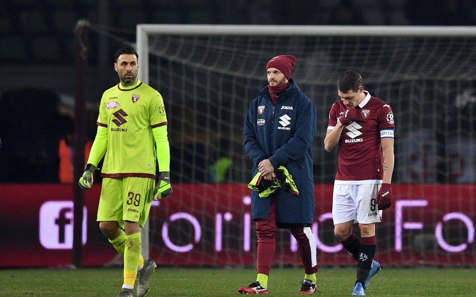 Капитанът на италианския Торино Андреа Белоти коментира тежкото загуба от