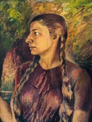 Автопортрет с плитка