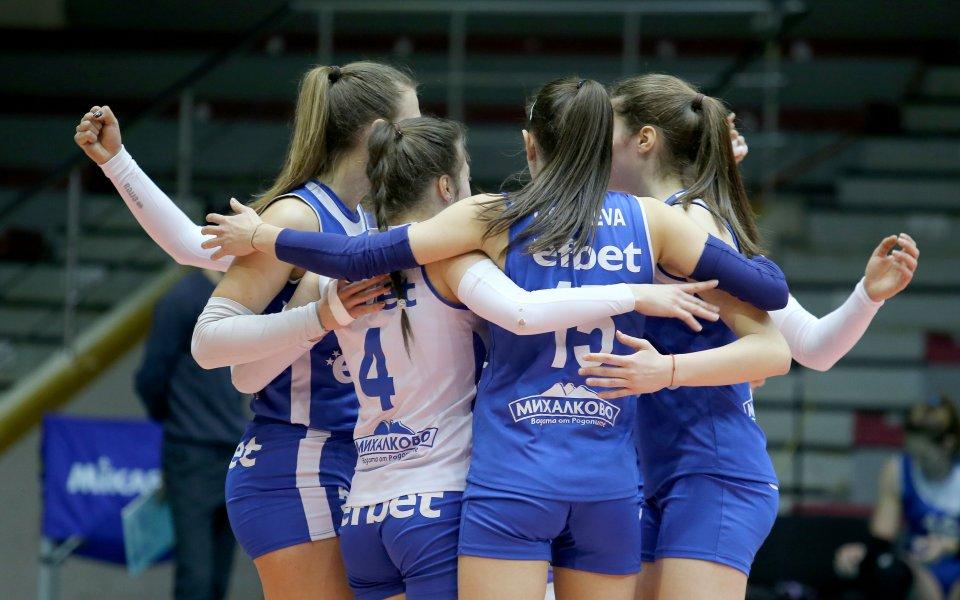 Левски победи ЦСКА с 3:0 (25:20, 25:12, 25:17) в дербито