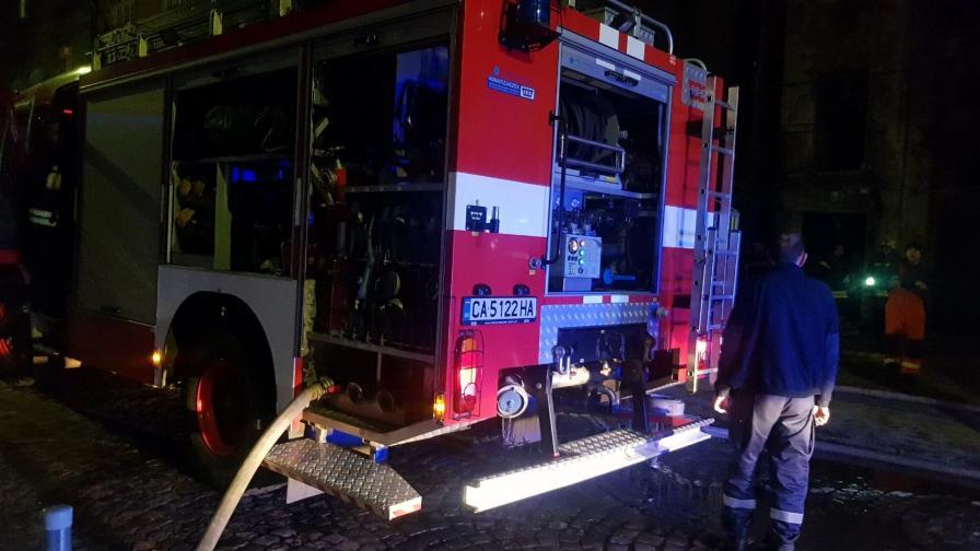 <p>Пожар горя в центъра на София</p>