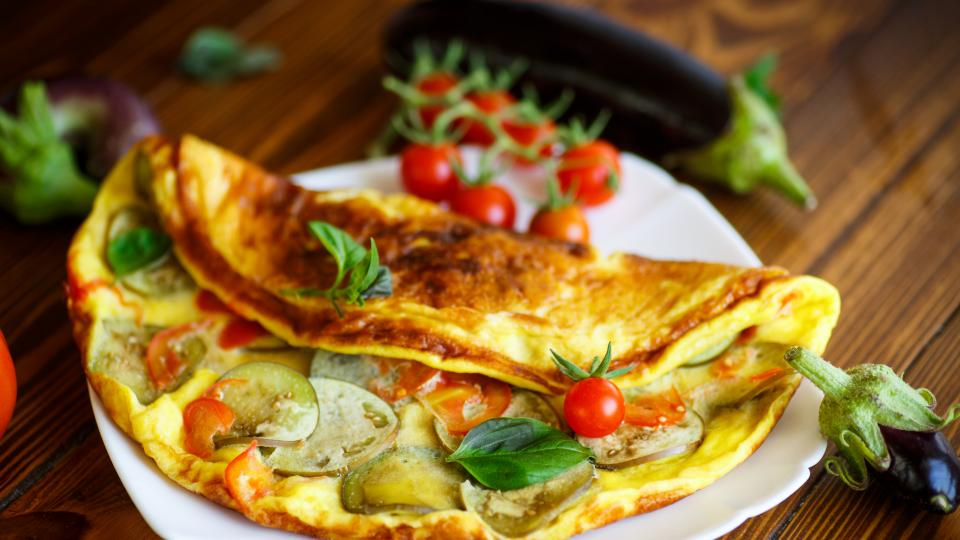 Фритата със зеленчуци