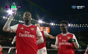 Пепе дава спокоен аванс от два гола на Арсенал