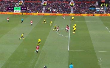 Манчестър Юнайтед - Уотфорд 1:0 /първо полувреме/