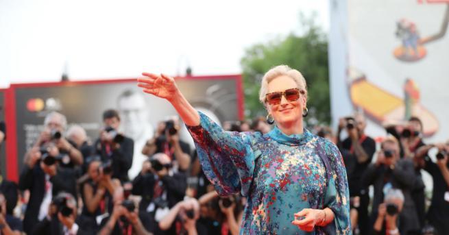 Американската актриса Мерил Стрийп се появи на снимачната площадка на