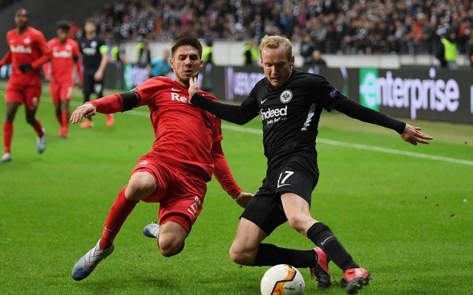 Отложеният 1/16-финалв Лига Европа между РБ Залцбурги Айнтрахт Франкфуртще се