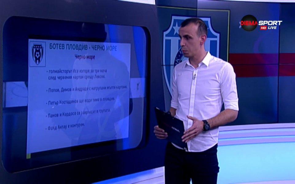 Отборът на Ботев Пловдив приема Черно море в сблъсък от