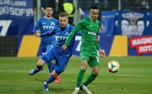 """НА ЖИВО: Левски срещу Лудогорец, здрав натиск от """"сините"""""""