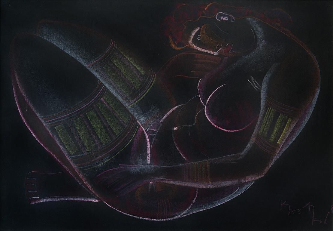 <p>Димитър Казаков &ndash; Нерон</p>  <p>Голо тяло, 1980 пастел, картон</p>