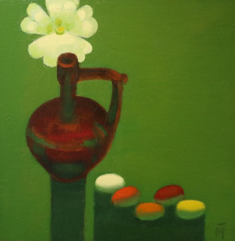 <p>Тома Трифоновски</p>  <p>Великденски натюрморт, ок. 2000 маслени бои, платно</p>