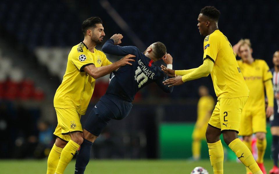 Дортмунд се завърна към тренировките... по двама
