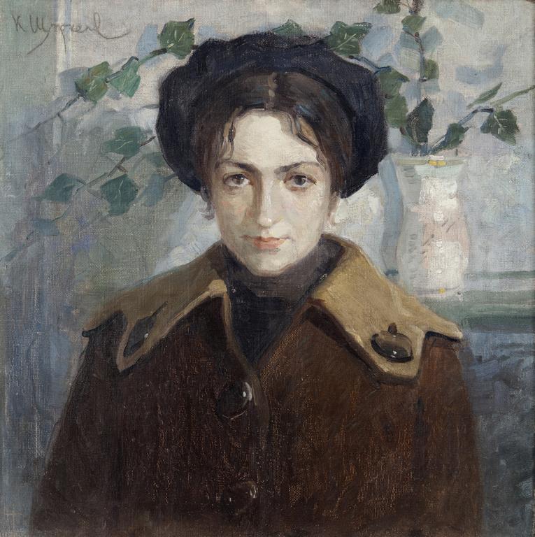<p>Константин Щъркелов (1889&ndash;1961) Дамски портрет (Брашлян), второто десетилетие на XX в. маслени бои върху платно</p>