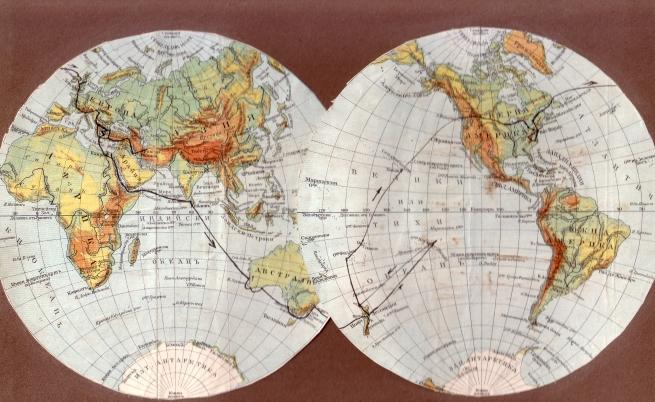 Това е схема на околосветската обиколка на Анна Пиперкова.