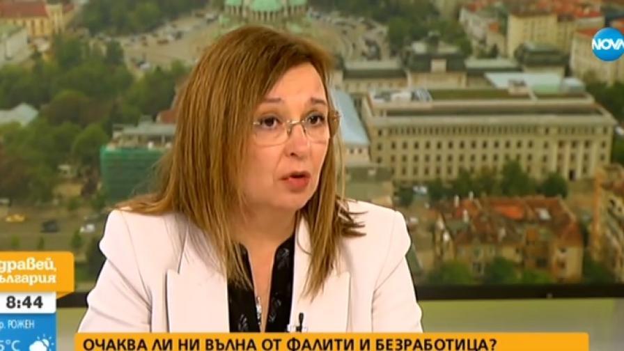 На снимката: зам.-министърът на труда и социална политика Зорница Русинова