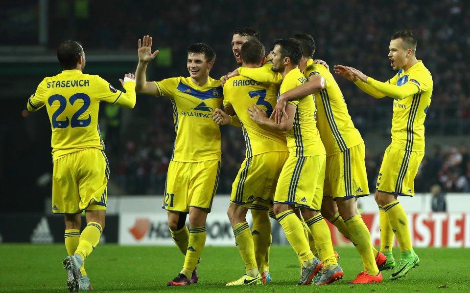 Най-успешният беларуски футболен клуб БАТЕ Борисов записа първа победа за