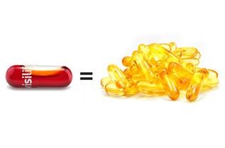 Благодарение на своята фосфолипидна формула и богатото съдържание на астаксантин ефективността на Visilife надхвърля многократно тази на рибеното масло