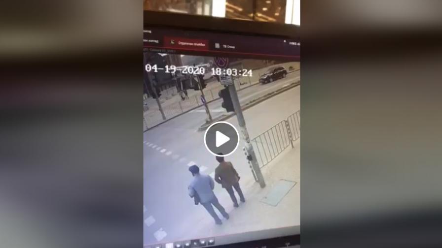 Видео от катастрофата с Милен Цветков се появи в социалните мрежи