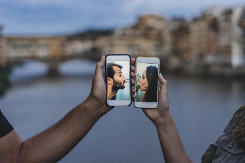 двойка телефон любов пътуване