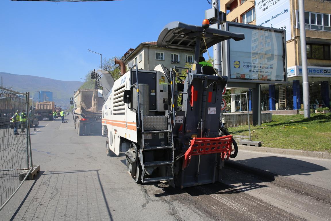 <p>Това е третият участък на булевард &bdquo;България&ldquo;, който се ремонтира.</p>