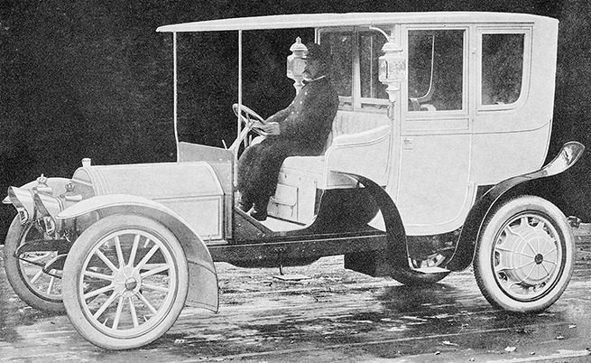 С Mercedes Electrique се вози австрийският император.